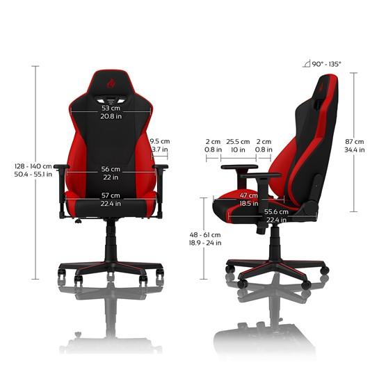 nitro concepts s300 gaming stuhl rot nc s300 br g nstig im online shop kaufen. Black Bedroom Furniture Sets. Home Design Ideas