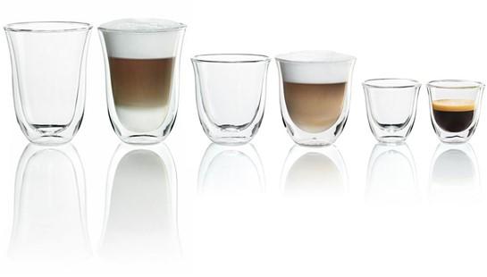 delonghi cappuccino tassen aus glas 2er set dbwallcapp g nstig im online shop kaufen. Black Bedroom Furniture Sets. Home Design Ideas